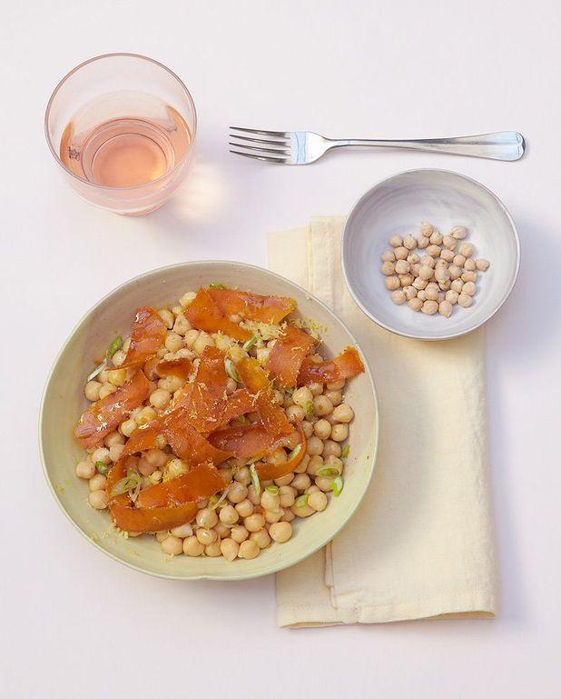 Salade de pois chiches à la poutargue