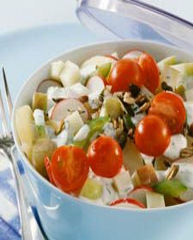 Salade de pommes de terre au cresson