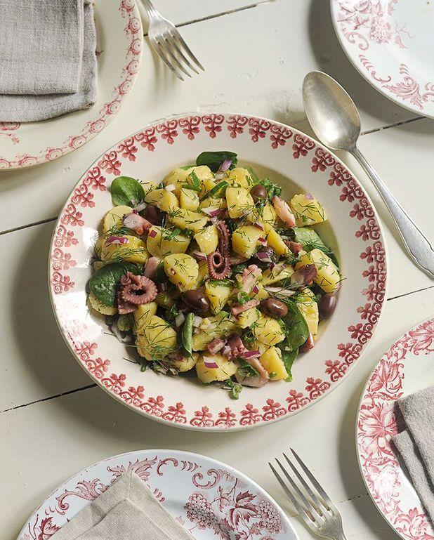Salade de pommes de terre et poulpe des Cyclades