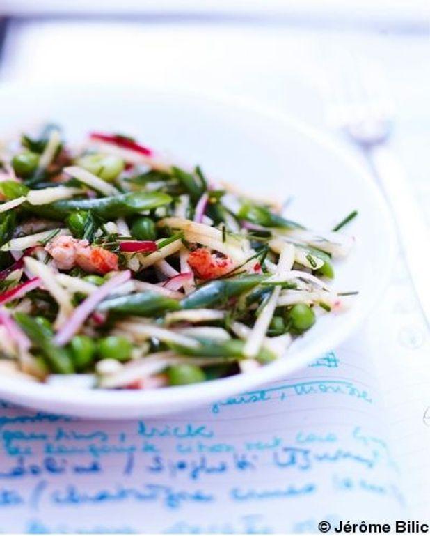 Salade de pommes et légumes