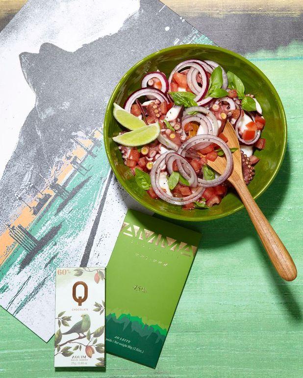 Salade de poulpe à la cachaça