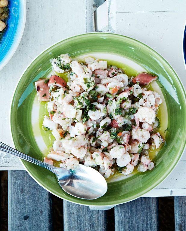 Salade de poulpe à la coriandre