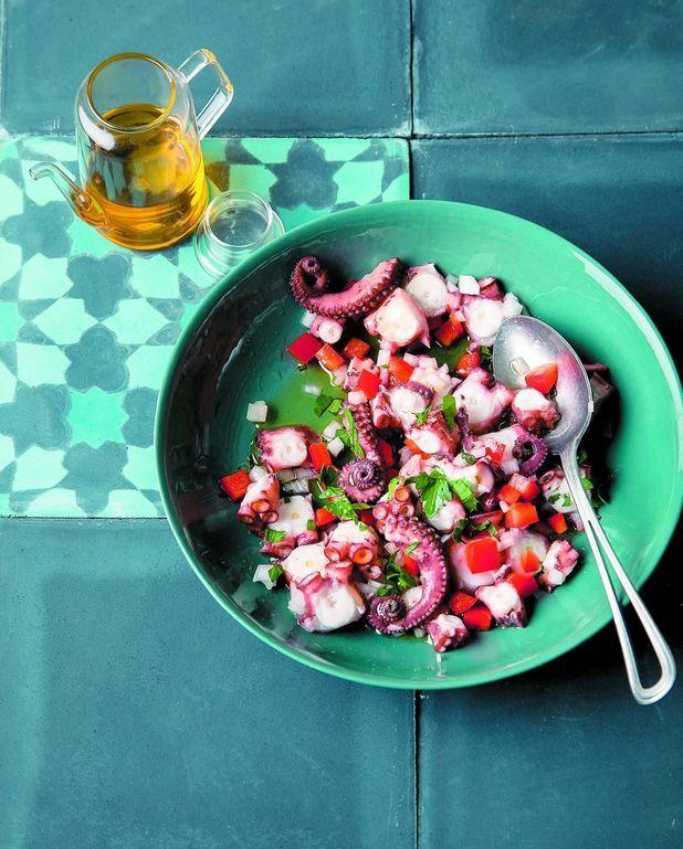 Salade de poulpe au poivron