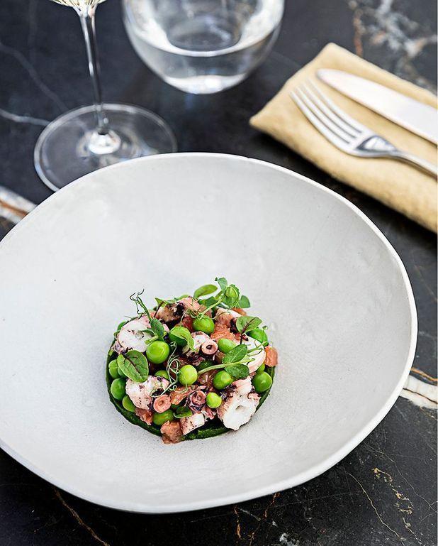 Salade de poulpe aux petits pois