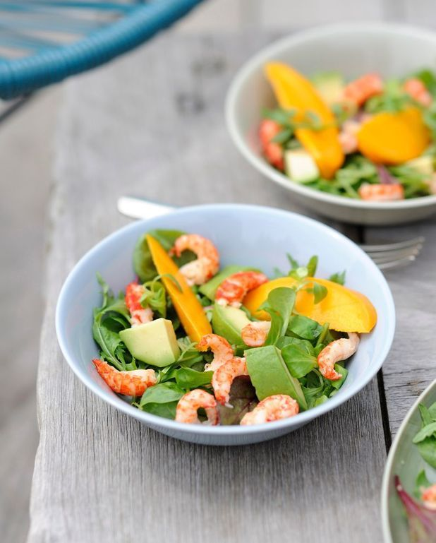 Salade de pousses aux écrevisses