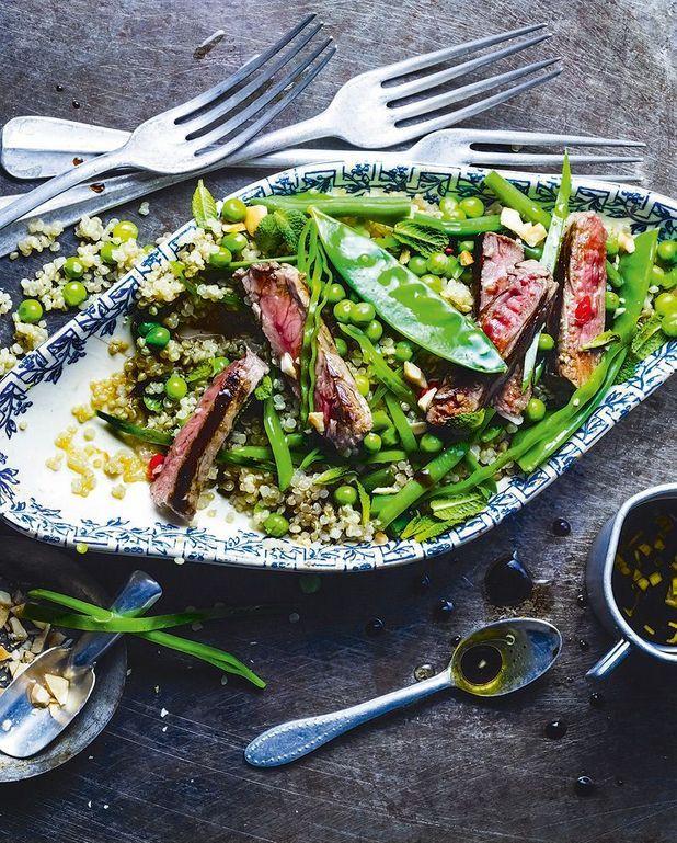 Salade de quinoa au boeuf, sauce bobun