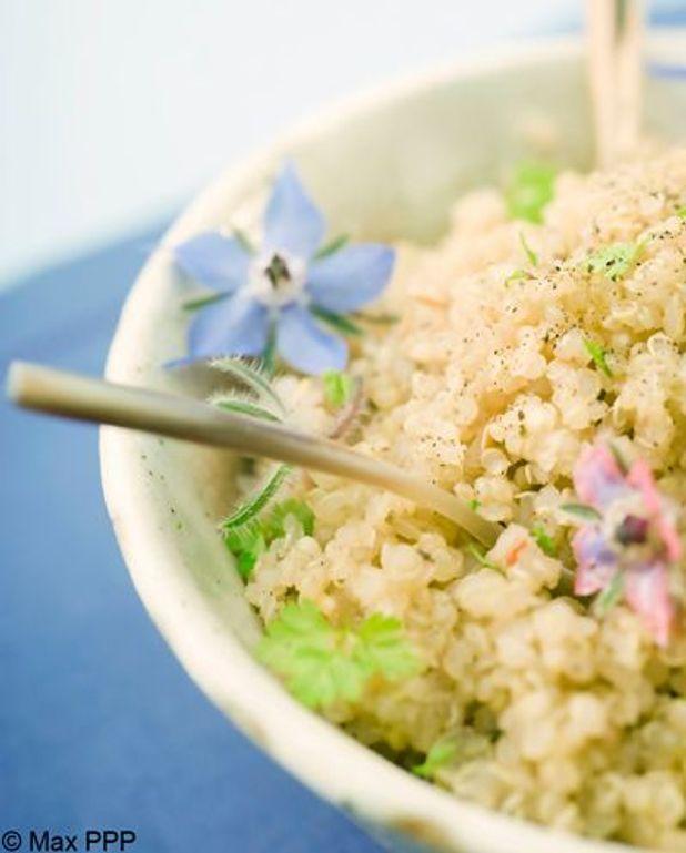 Salade de quinoa au speck et pesto