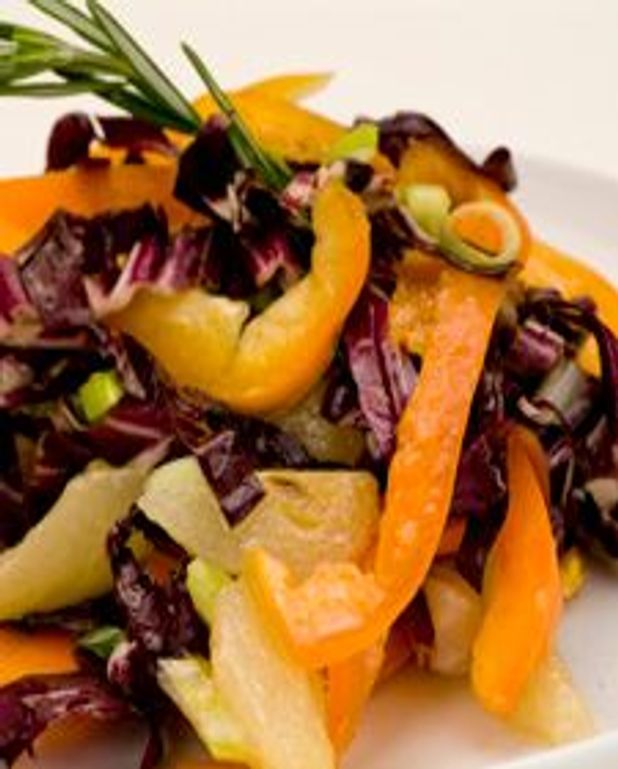 Salade de radicchio aux poires