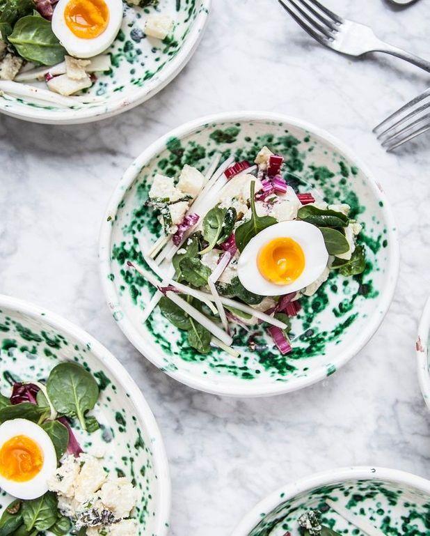 Salade de rattes aux épinards
