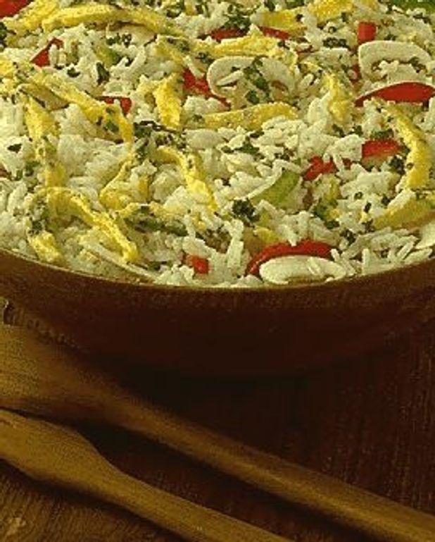 Salade de riz à l'omelette