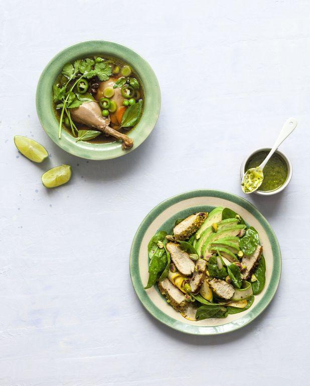 Salade de suprêmes de pintade aux pistaches