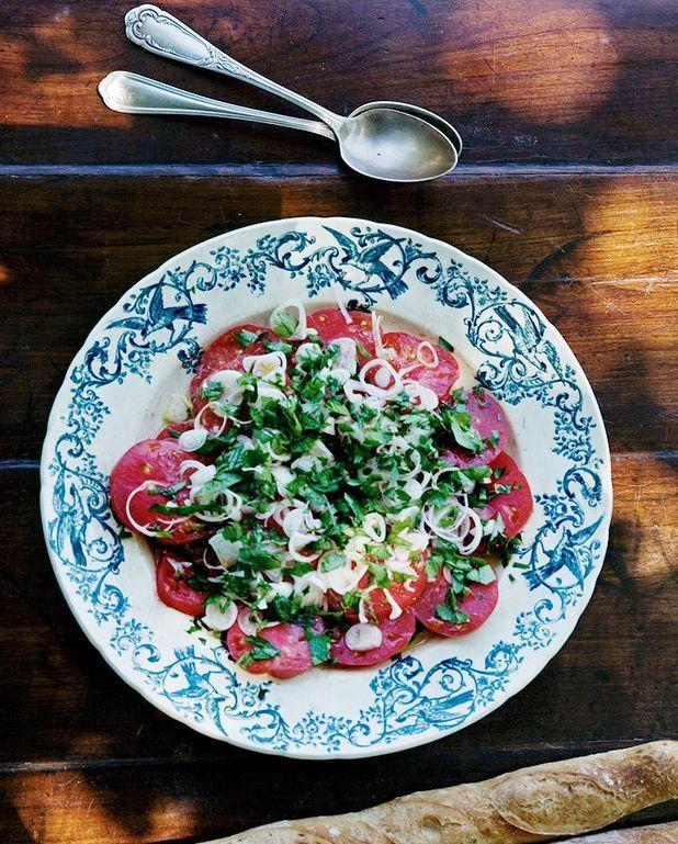Salade de tomate aux échalotes