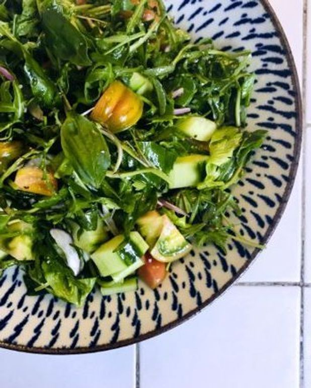 Salade de tomates vertes