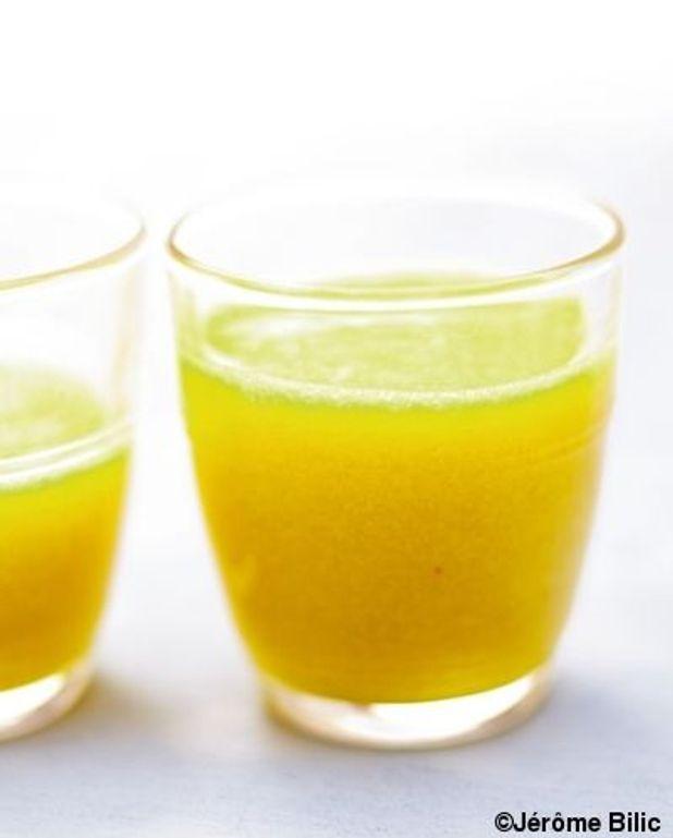 Salade jaune à boire