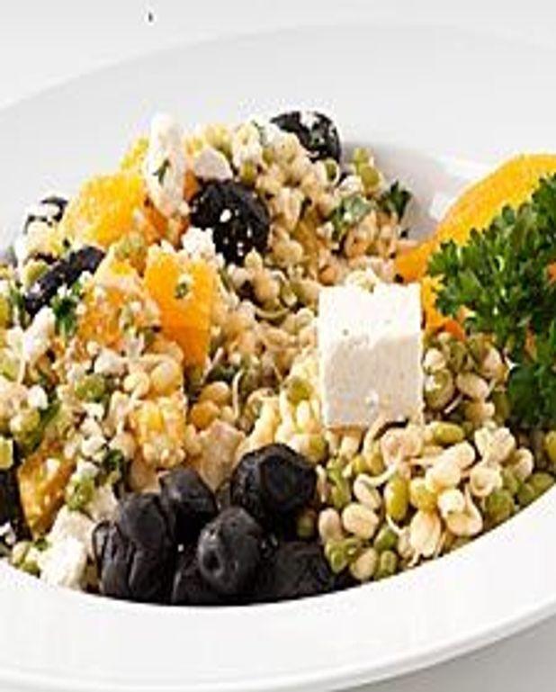 Salade mungo, feta et olive