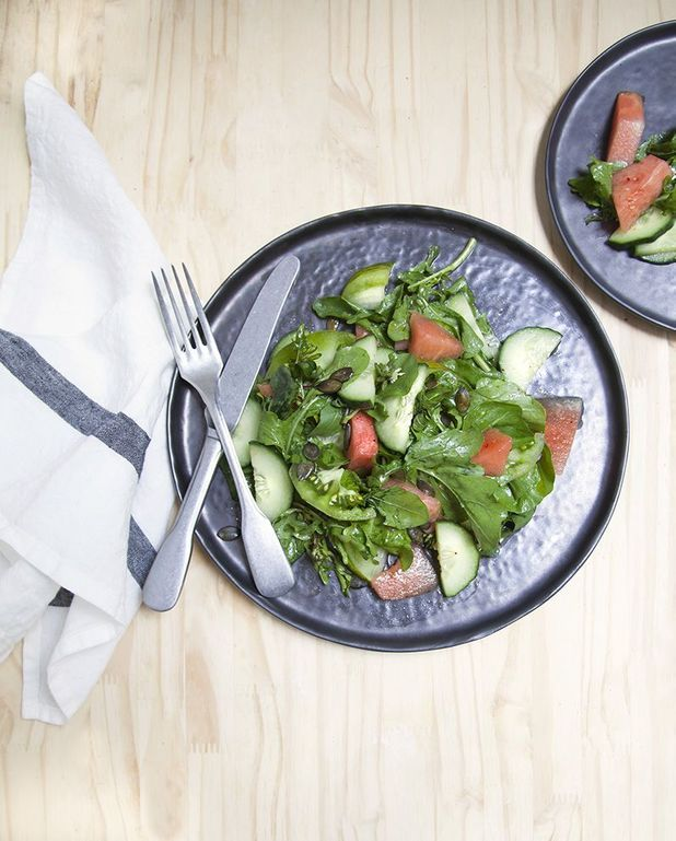 Salade pastèque-roquette
