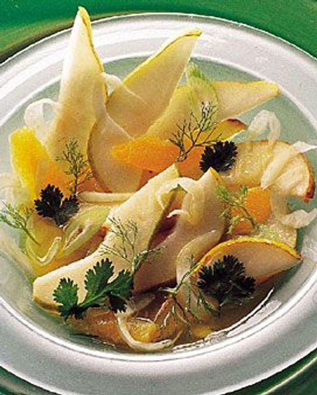 Salade poires fenouil