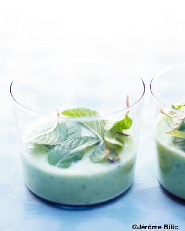 Salade vert clair à boire