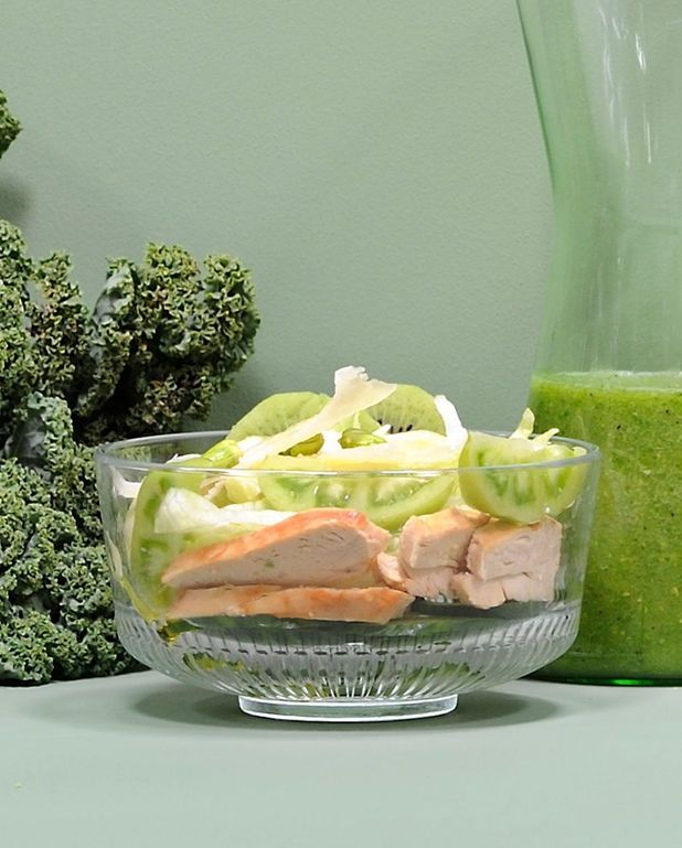 Salade verte au poulet
