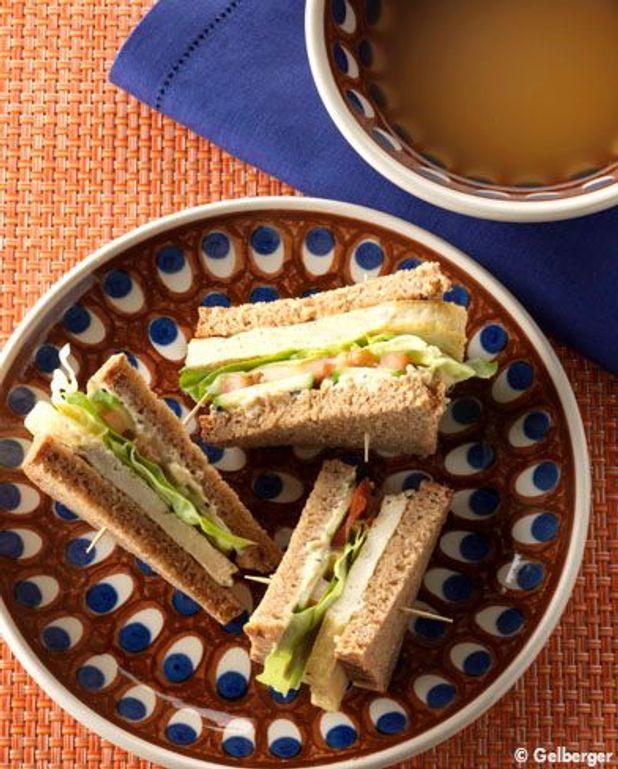 Sandwich au tofu, soupe miso