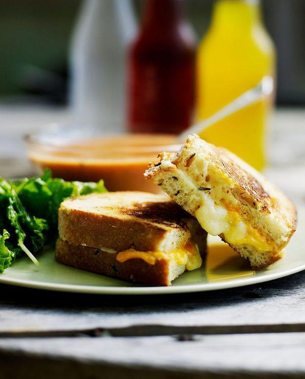 Sandwich scamorza fumée et truffe