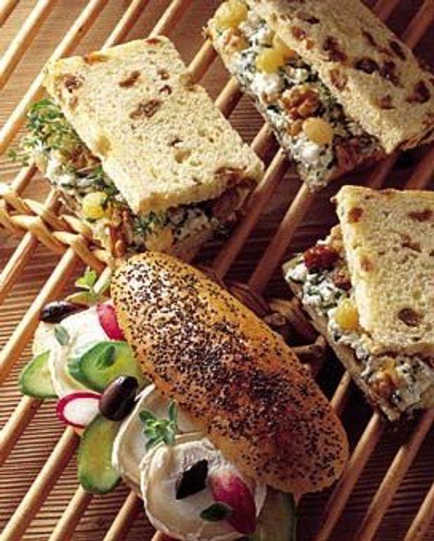 Sandwiches au fromage de chèvre