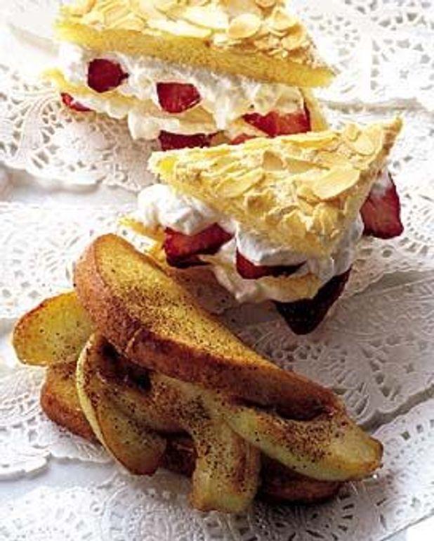 Sandwiches aux pommes et aux fraises
