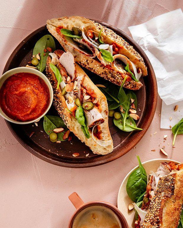 Sandwichs de rôti de veau, sauce barbecue au café