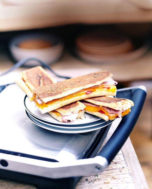 Sandwichs grillés au cheddar