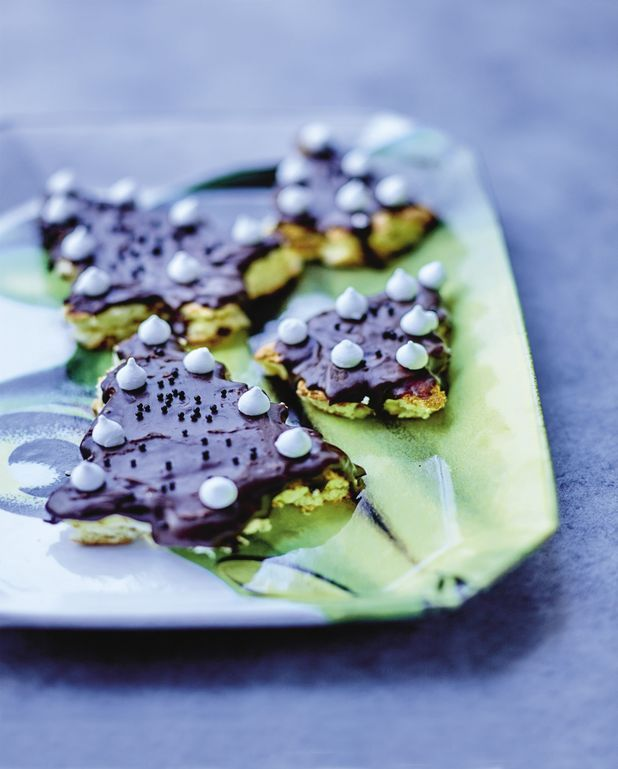 Sapins de Noël mangue-chocolat
