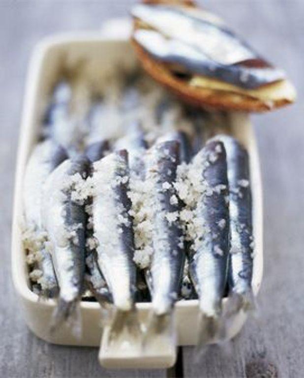 Sardines au sel