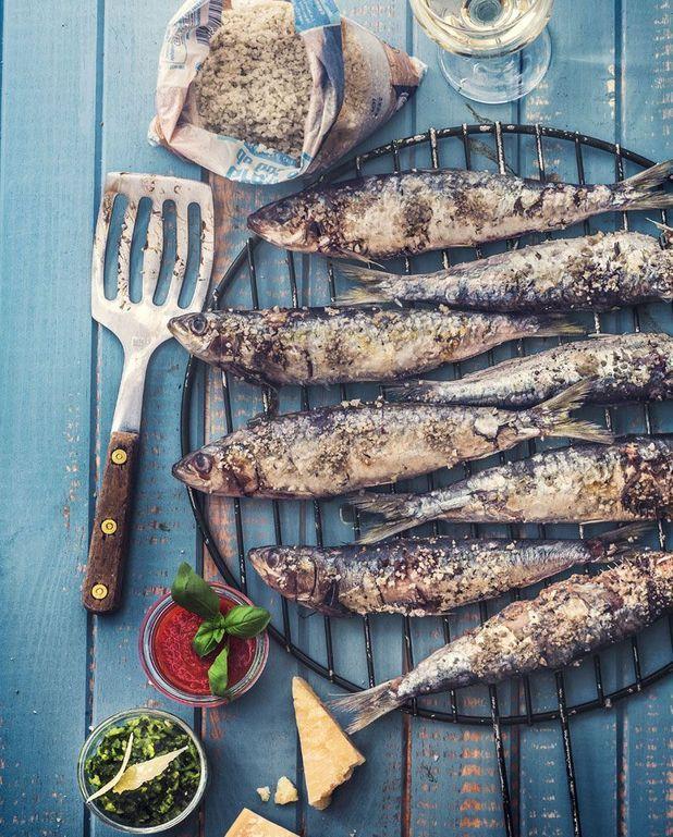Sardines, courgettes et poivrons