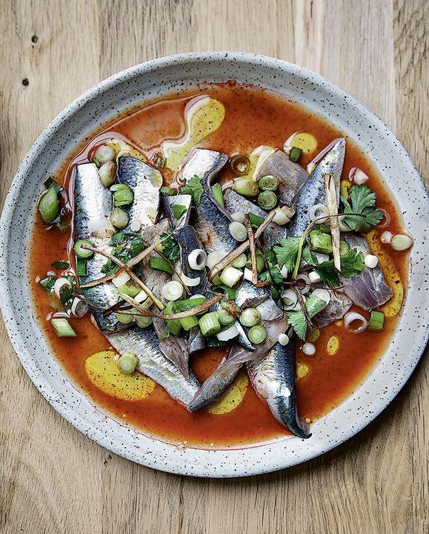Sardines marinées, harissa