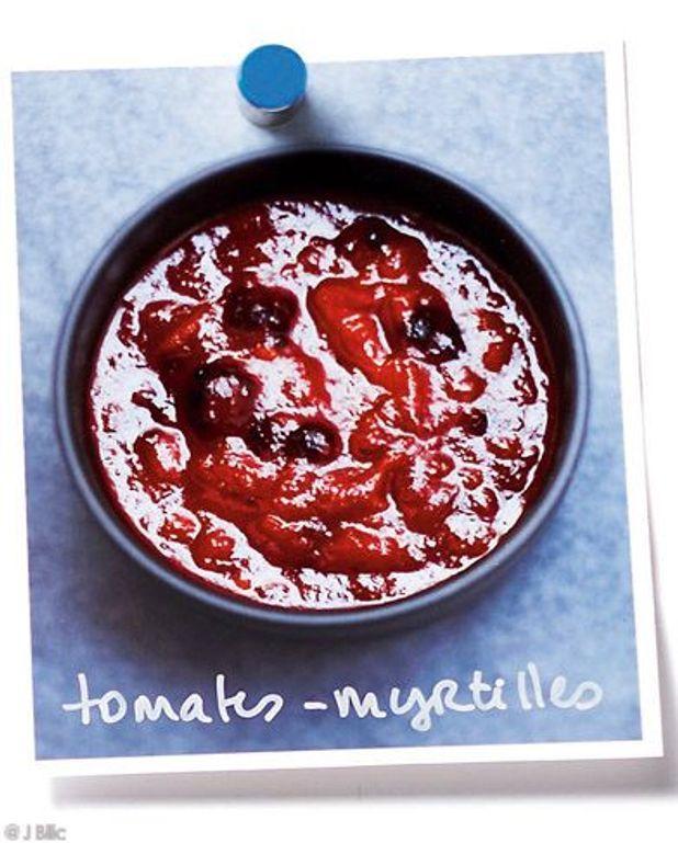 Sauce tomates-myrtilles