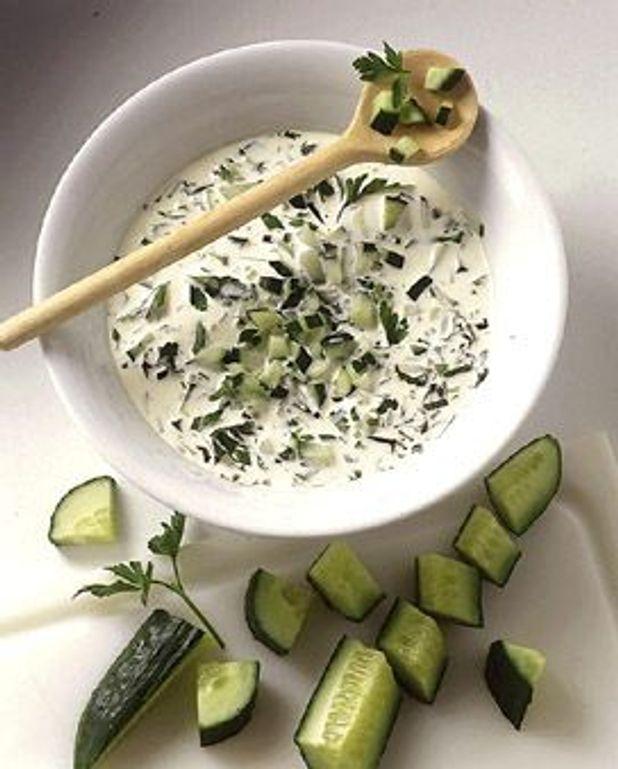 Sauce yaourt au concombre