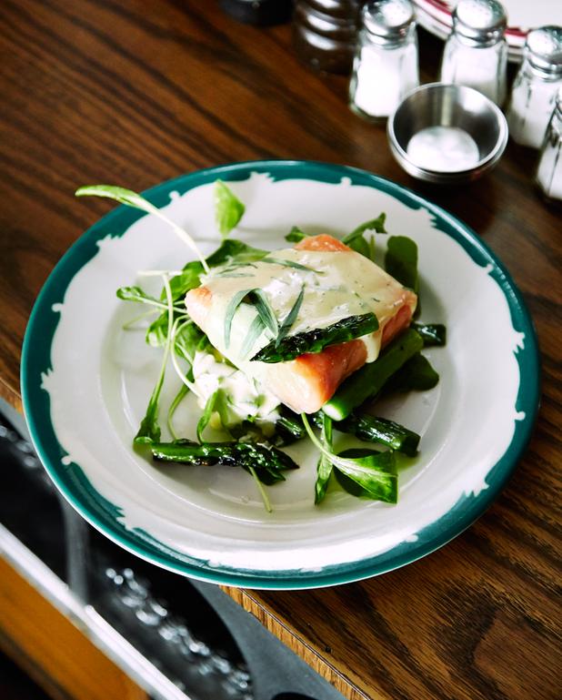 Saumon asperges-estragon
