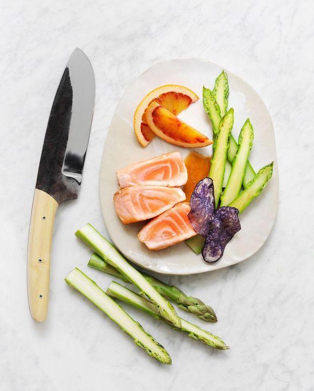 Saumon aux asperges acidulées