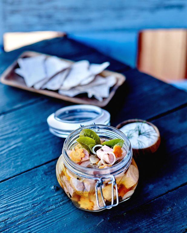 Saumon de Norvège façon pickles