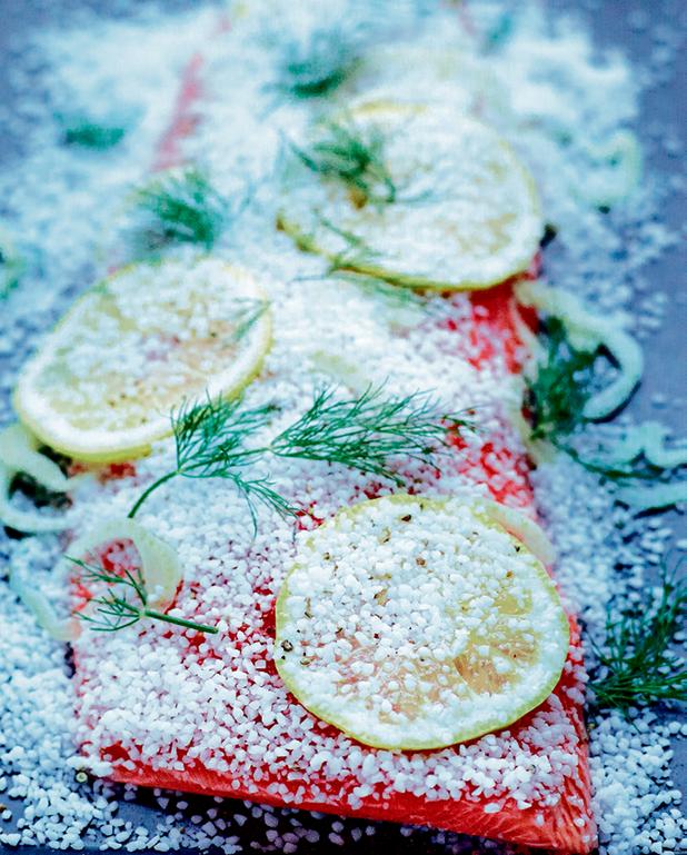 Saumon gravlax au fenouil