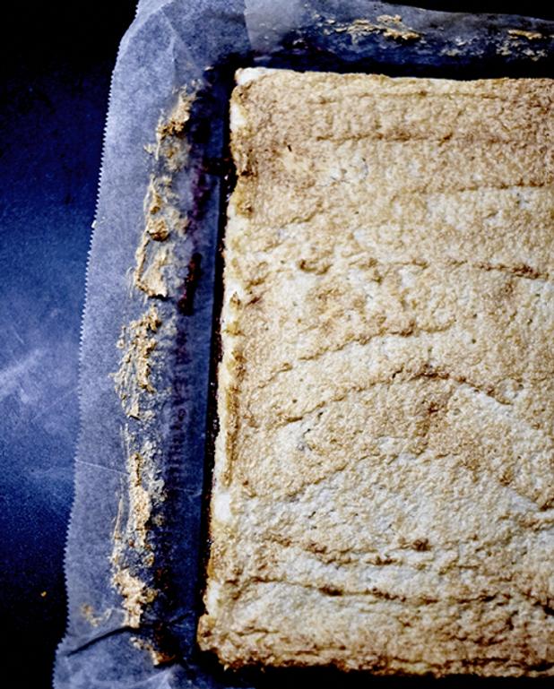 Shortcake, confiture de framboise et meringue