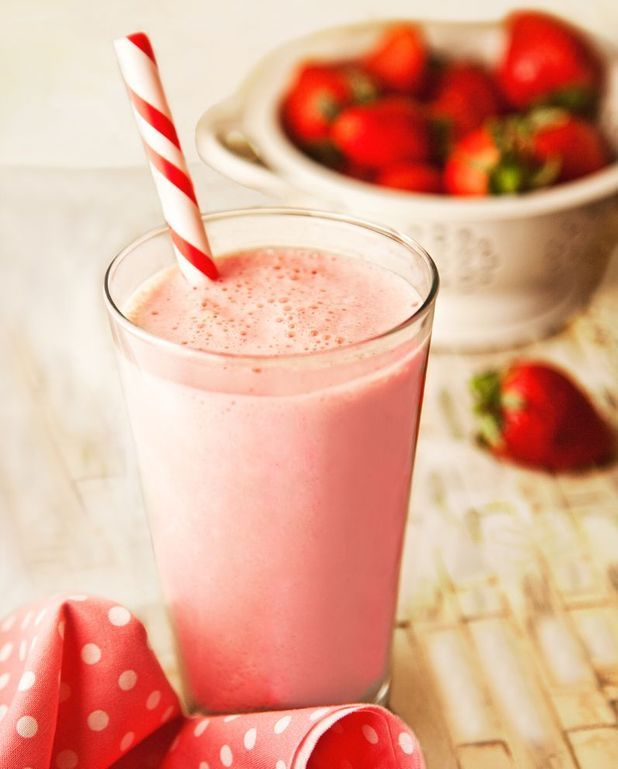 Smoothie aux fraises et sirop d'agave Thermomix
