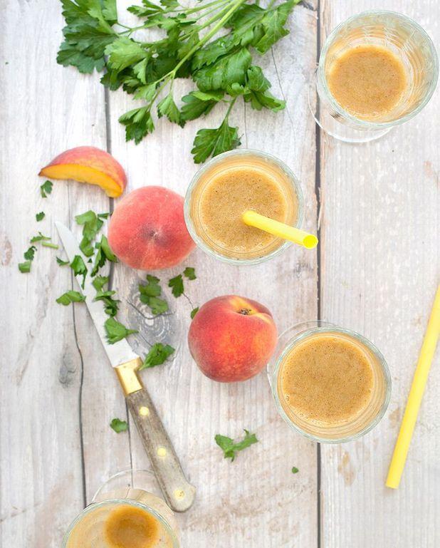 Smoothie de fruits au persil