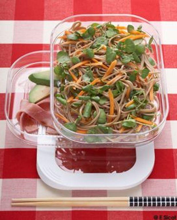 Soba en salade au cresson