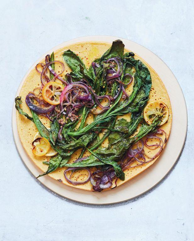 Socca kale et anchois