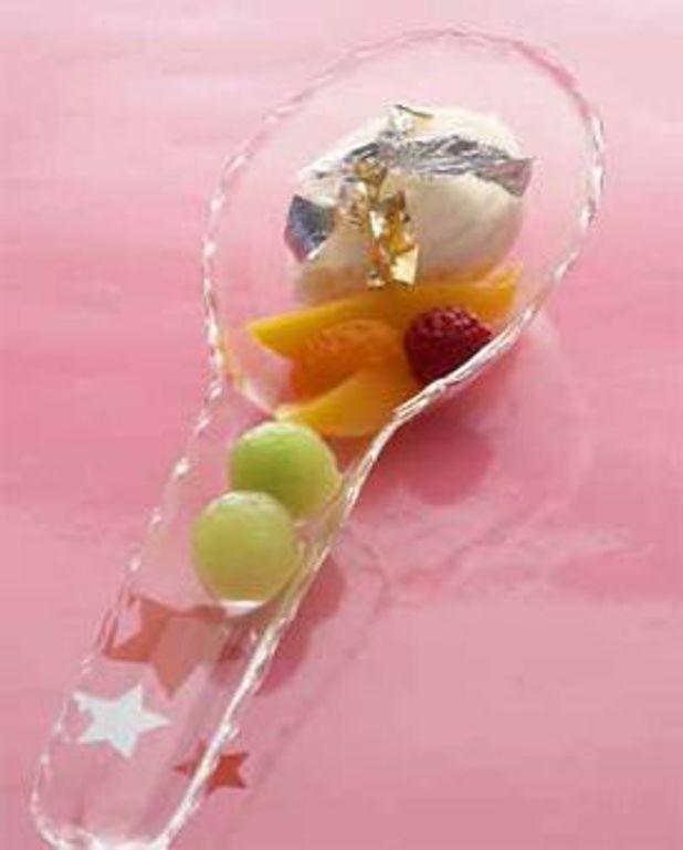 Sorbet champagne et fruits