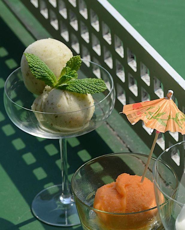Sorbet mojito et concombre