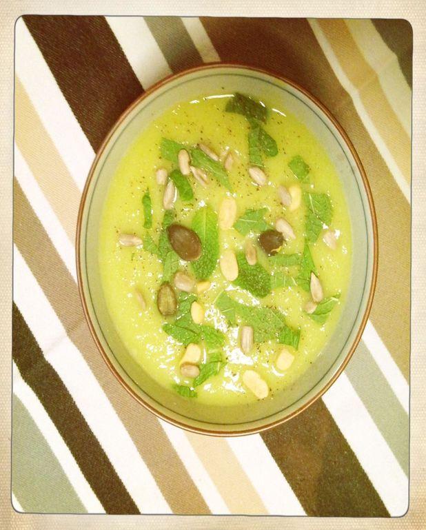 Soupe courgettes-menthe