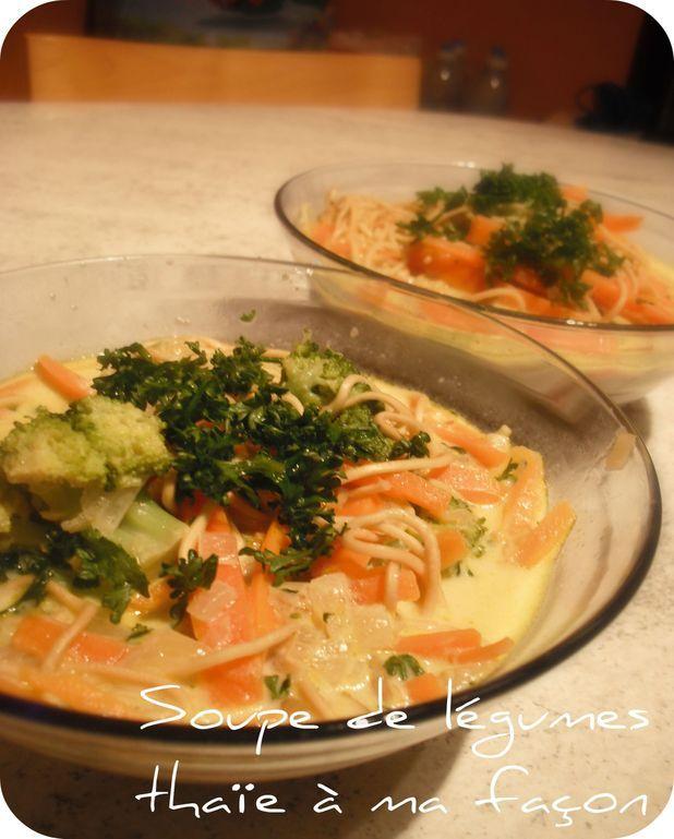 Soupe de légumes thaïe à ma façon