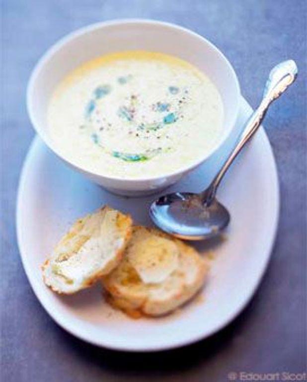 Soupe de maïs et scones au fromage