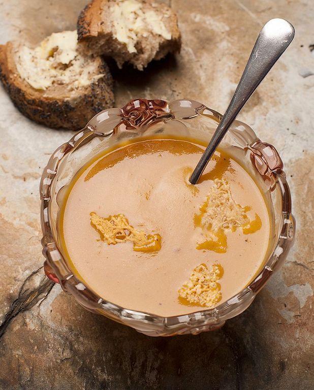 Soupe de marrons, café et parmesan de Sébastien Gaudard